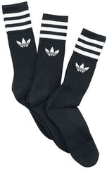 adidas solid crew sock black/ white