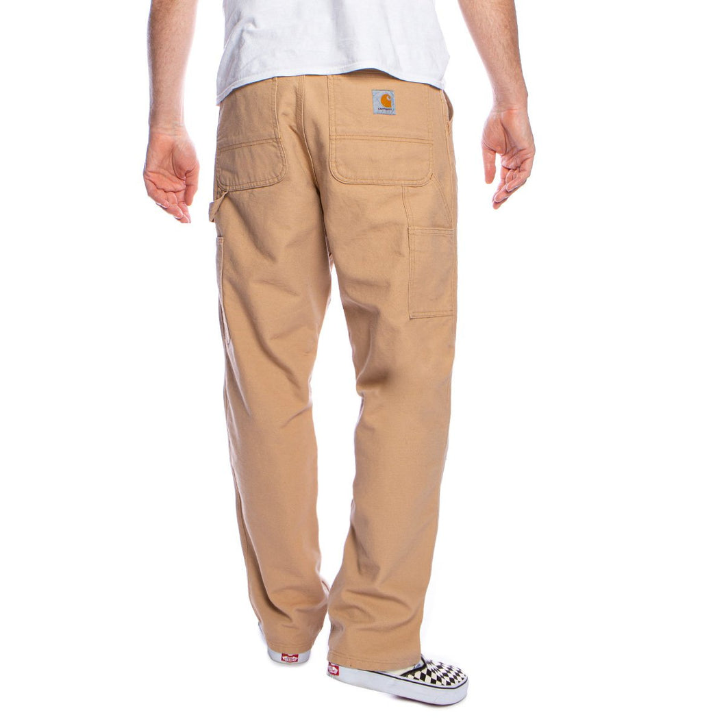 carhartt single knee pant cotton dusty h brown rinsed