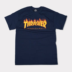 thrasher flame logo navy
