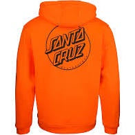 santa cruz opus dot sleeves hood fluro orange
