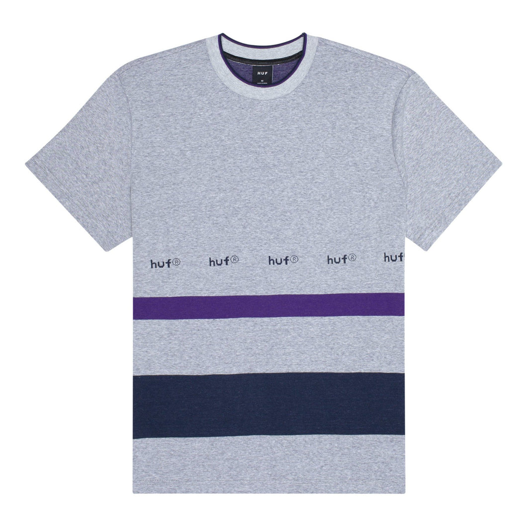 huf ellis yds s/s knit top grey heather