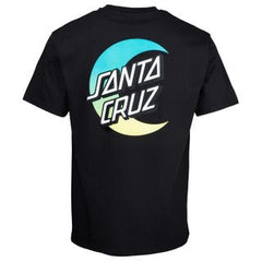 santa cruz moon dot fade tee black