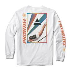 primitive dive ls tee white