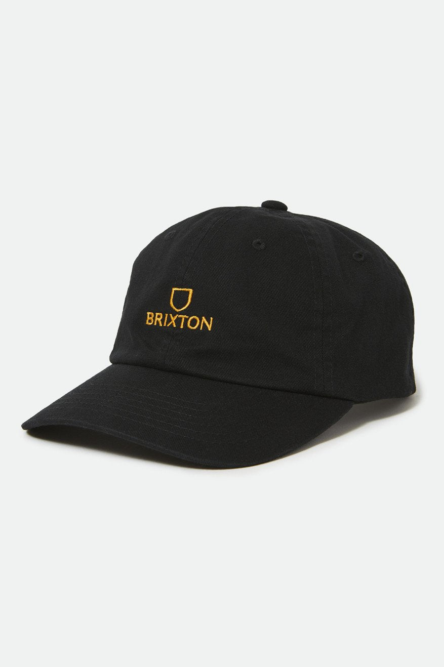 Brixton Alpha LP Cap Black Gold