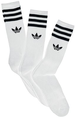 adidas solid crew sock white/ black