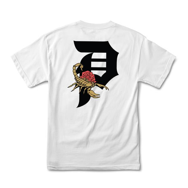 primitive dirty p scorpion tee white