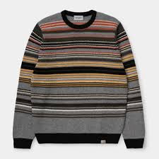 carhartt gordon sweater gordon stripe dark grey