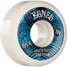 Bones Wheels Ripples SPF 84B 54mm White P5 Sidecut