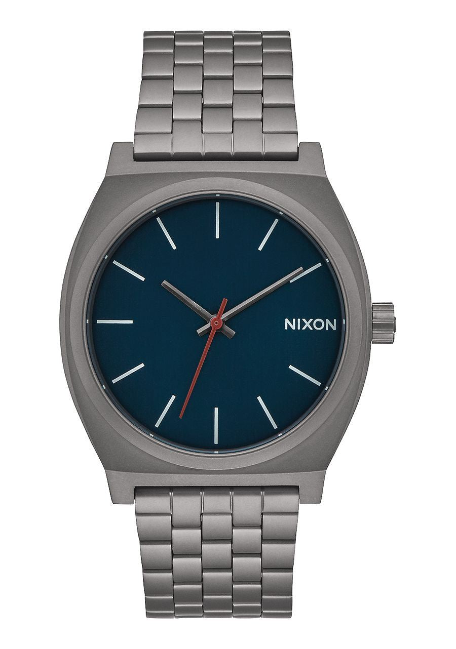 nixon time teller all gunmetal/ dark blue