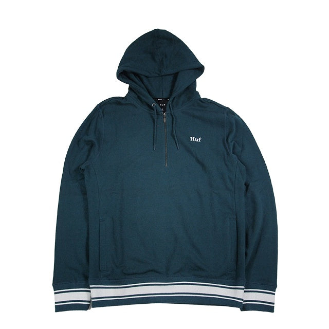 huf relay french terry hoodie jade