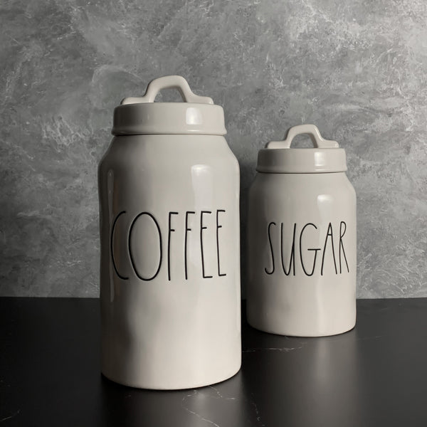 COFFEE Canister | Rae Dunn Artisan Collection | Rae Dunn Clay