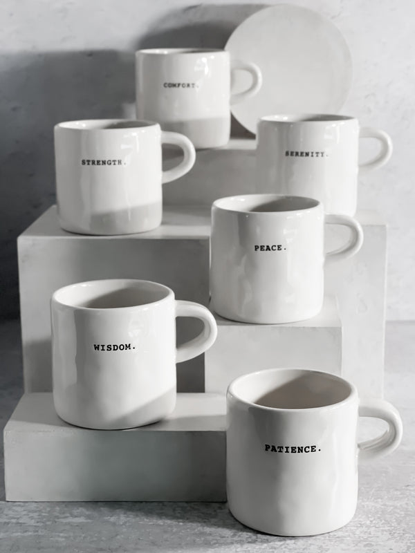 Boutique Word Mugs Set of Six by Rae Dunn