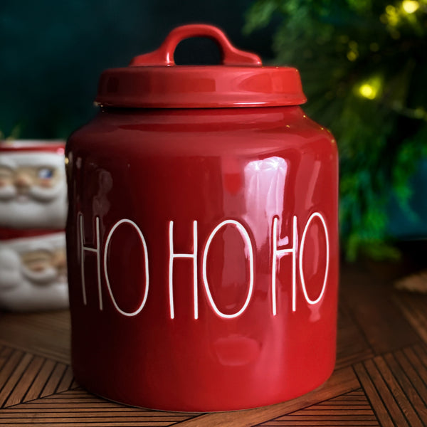 Rae Dunn Red HO HO HO Holiday Canister