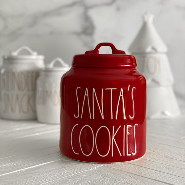 SANTA'S COOKIES Holiday Canister
