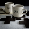 Rae Dunn MOM and DAD Mugs | Boutique Collection | Dad and Dad Mugs, Mom and Mom mugs, Mugs for Gay Couples Gay Parents The modern day family is diverse as ever and we're here for it. From single parent families, families with a mom + dad, 2 mom or 2 dad families.