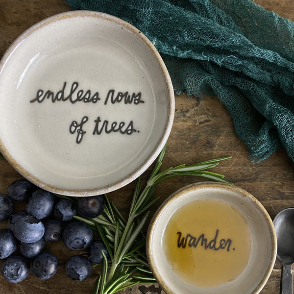 Rae Dunn SENTIMENT Bread Plate from the Heritage Boutique Collection at California Englished