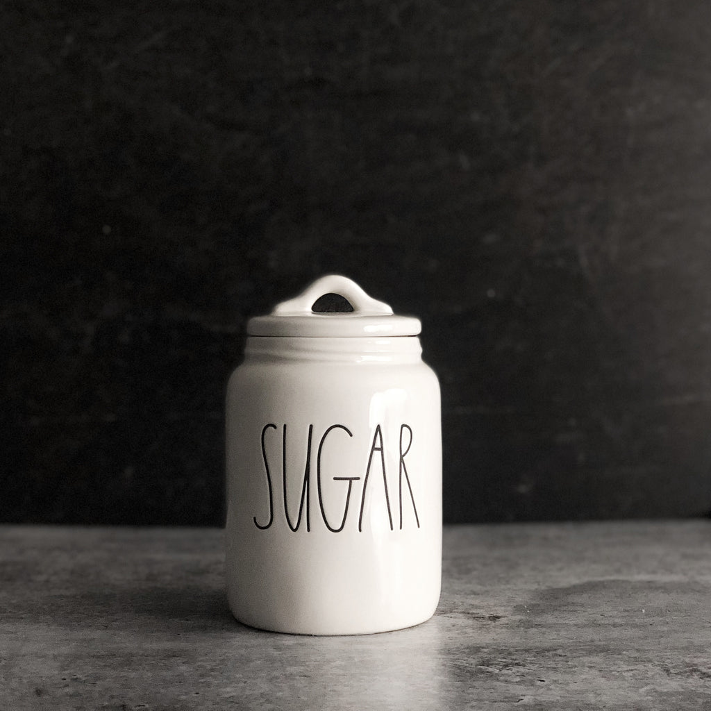 Rae Dunn Baby SUGAR Canister California Englished Rae Dunn Artisan Collection by Magenta Shop Online at California Englished Rae Dunn Boutique Stores