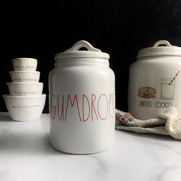 Rae Dunn GUMDROPS Holiday Canister Christmas Holiday Canister Shop Stores that Sell Rae Dunn Artisan Collection by Magenta Online at California Englished