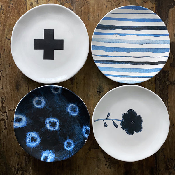 Rae Dunn Indigo Dreams Boutique Plate Set