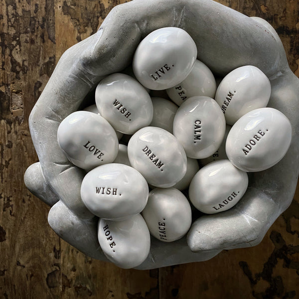 Rae Dunn Boutique Word Stone Gift Sets | Shop Rae Dunn Boutique Collection at California Englished