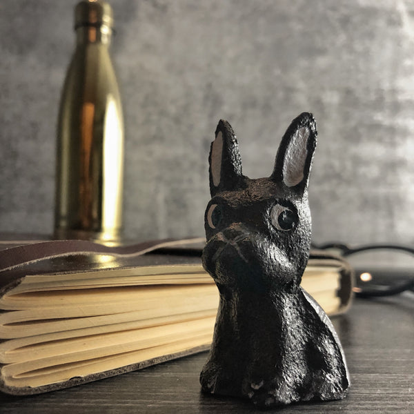 French Bulldog Cast Iron Paperweight | California Englished Sassy Frenchie