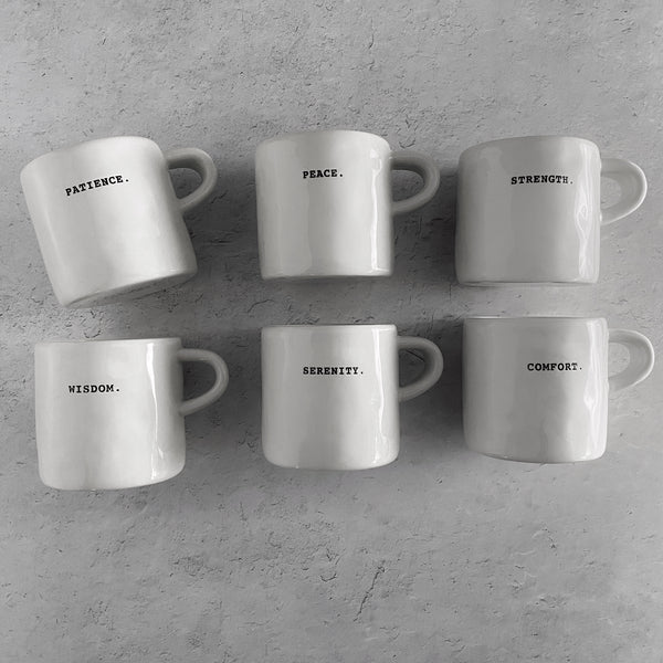 Rae Dunn Boutique Classic Word Mug Set | California Englished