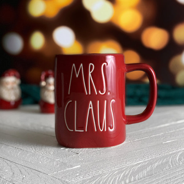 Rae Dunn MRS. CLAUS Holiday Christmas Mug