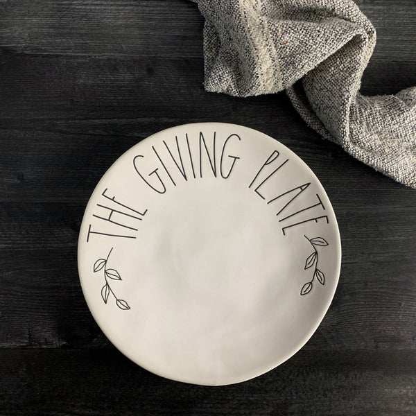 Rae Dunn The Giving Plate | California Englished | CaliforniaEnglished.com