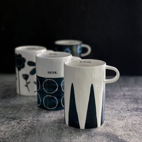 Rae Dunn Indigo Dreams Tall Mug Set