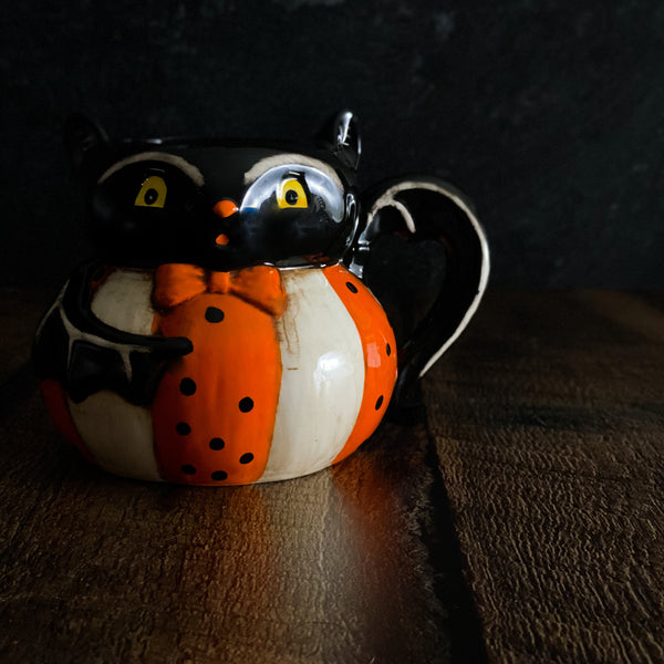 Johanna Parker Vampire Bat Halloween Mug Johanna Parker Collectibles Mid-Century and Timeless Folk Art Halloween Design Johanna Parker at California Englished | An Authorized Johanna Parker Design Retailer | Online Stores that Sell Johanna Parker & Where to Buy Johanna Parker