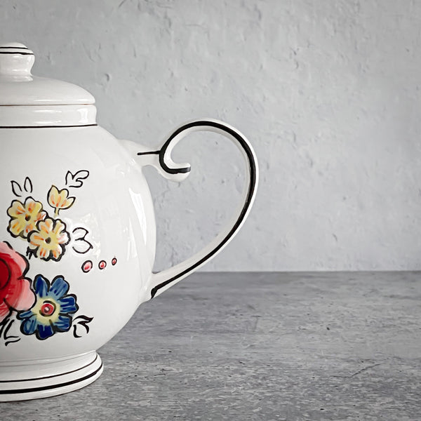 Flower Patch Teapot by Molly Hatch California Englished