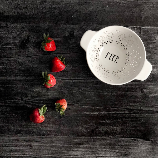 Rae Dunn Colander KEEP | Shop Now at CaliforniaEnglished.com | California Englished Home