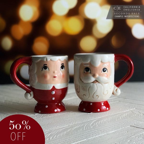 SECONDS: Johanna Parker Nostalgic Mrs. & Mr. Claus Mug Set