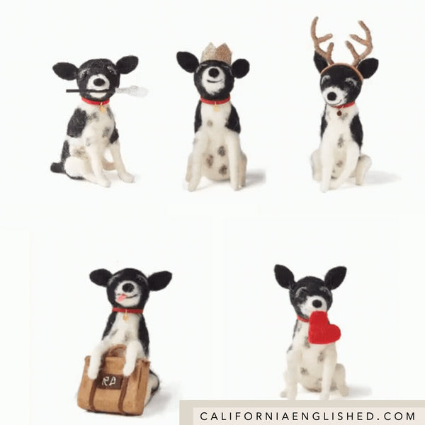 WILMA Felt Ornament by Rae Dunn at California Englished