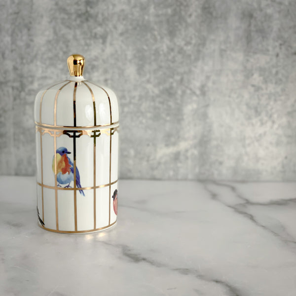 Inspired by Molly Hatch Anthropologie Birdhouse Collection Our Songbird Gilded Palace Candle by Molly Hatch California Englished