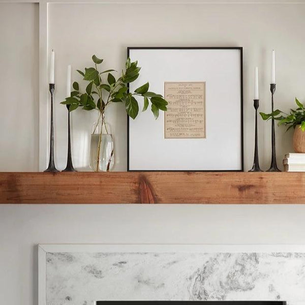 Gatecrest Ashford Taper Candle Black Candle Holders Featured on Fixer Upper at California Englished Home Decor