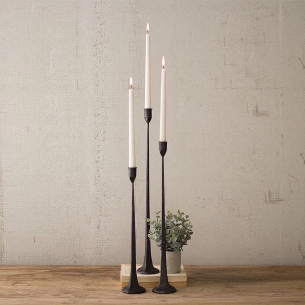 Gatecrest Taper Candle Black Candle Holders Featured on Fixer Upper at California Englished Home Decor