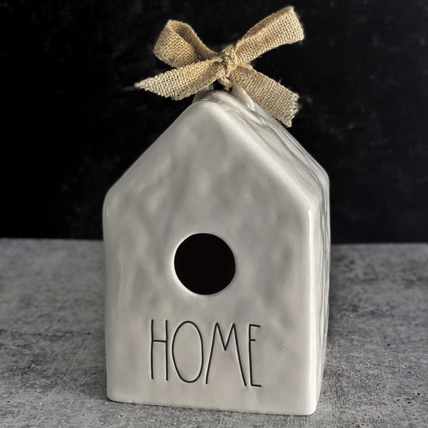 Unique, modern, farmhouse ceramic Home Birdhouse | California Englished Home DecorSearching for where to buy Rae Dunn birdhouses online? Available at California Englished Home Decor | CaliforniaEnglished.com. Our newly released Rae Dunn Large Letter Artisan Collection is available to purchase and shop online at CaliforniaEnglished.com, an authorized Rae Dunn seller.