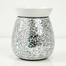 Load image into Gallery viewer, Silver Crackle Wax Melt Burner