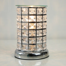Load image into Gallery viewer, Jewelled Silver Aroma Lamp