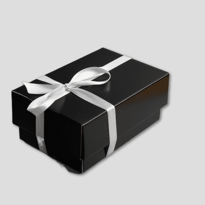 Black Gift Box (Silver Ribbon)