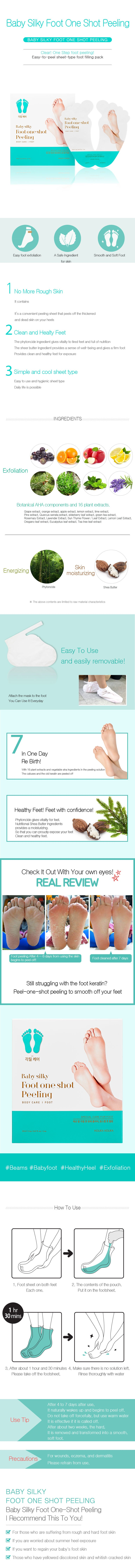 Masker Kaki Korea | Baby Silky Foot One Shot Peeling