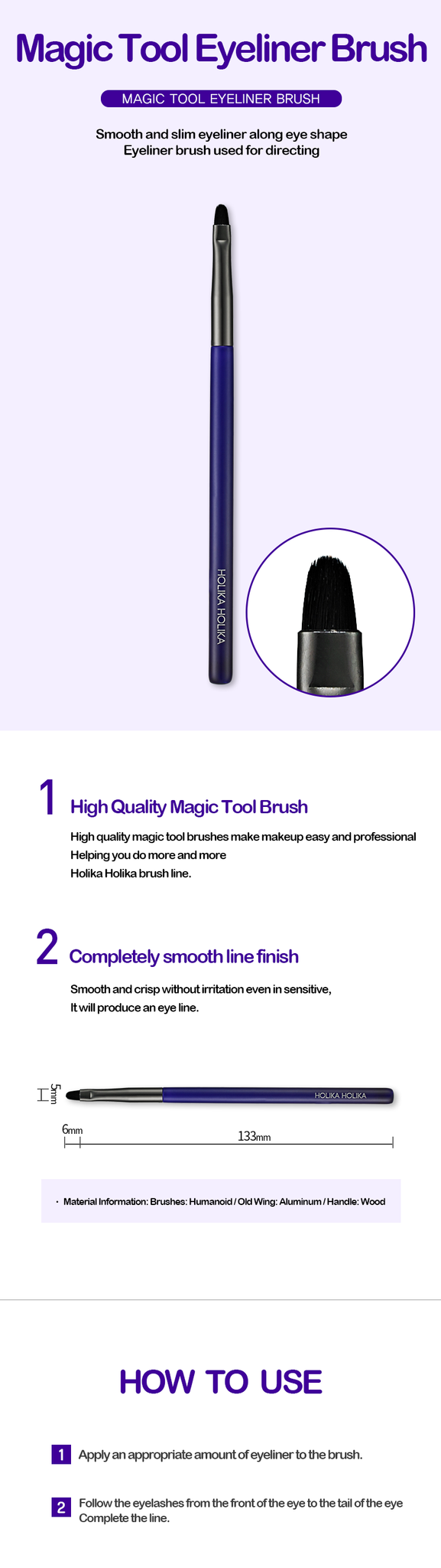 Eyeliner Brush | Magic Tool Eyeliner Brush