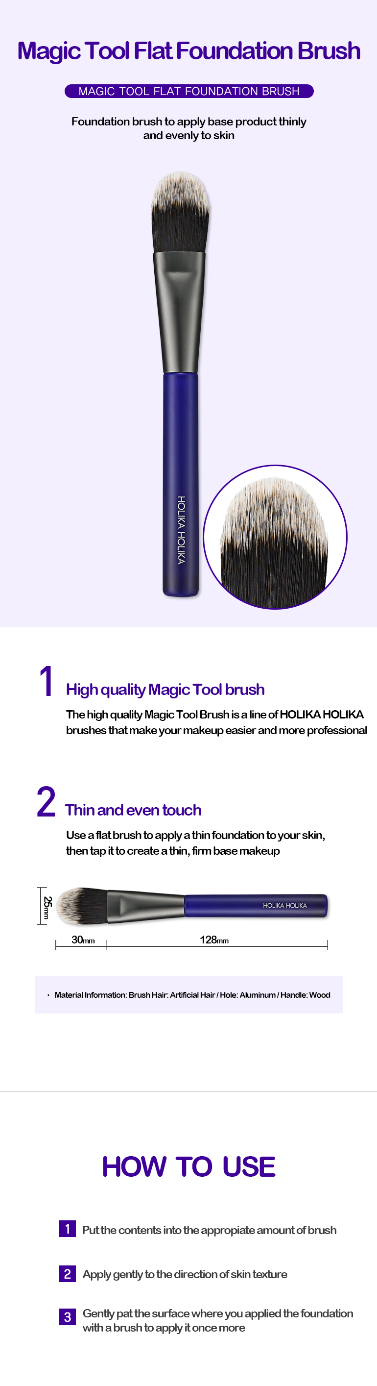 Kuas Foundation | Magic Tool Flat Foundation Brush