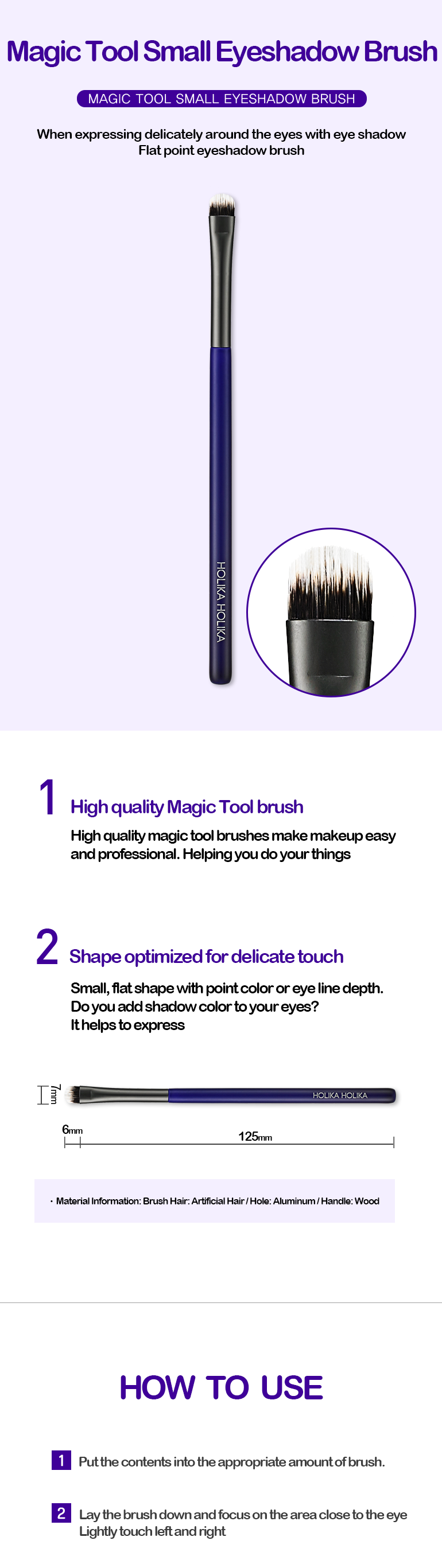 Kuas Eyeshadow | Magic Tool Small Eyeshadow Brush