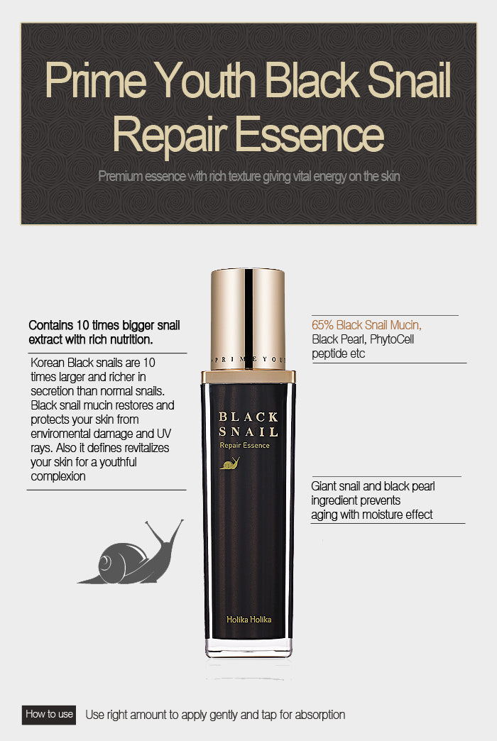Essence Anti Aging | Prime Youth Black Snail Repair Essence