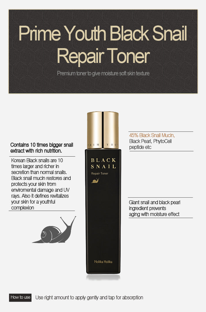Toner Anti Aging | Prime Youth Black Snail Repair Toner