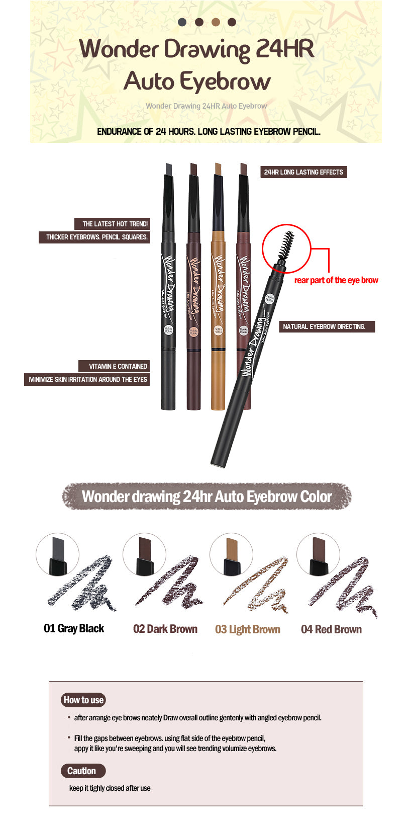 Pensil Alis Waterproof | Wonder Drawing 24hr Auto Eyebrow