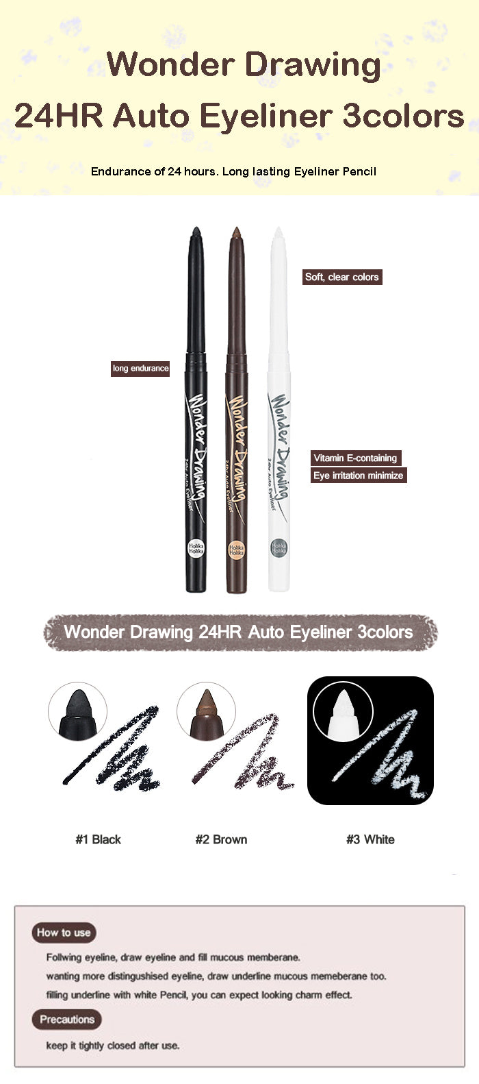Eyeliner Waterproof | Wonder Drawing 24hr Auto Eyeliner