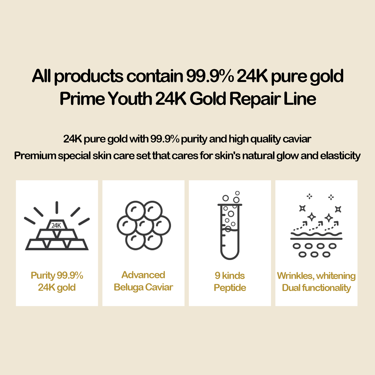 Krim Wajah Gold | Prime Youth 24K Gold Cream